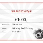 Rock Evening levert 1000 euro op voor Forza4Sam